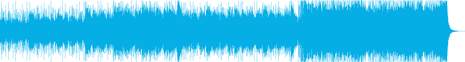 緊張感のあるドラマチックなBGMの再生済みの波形