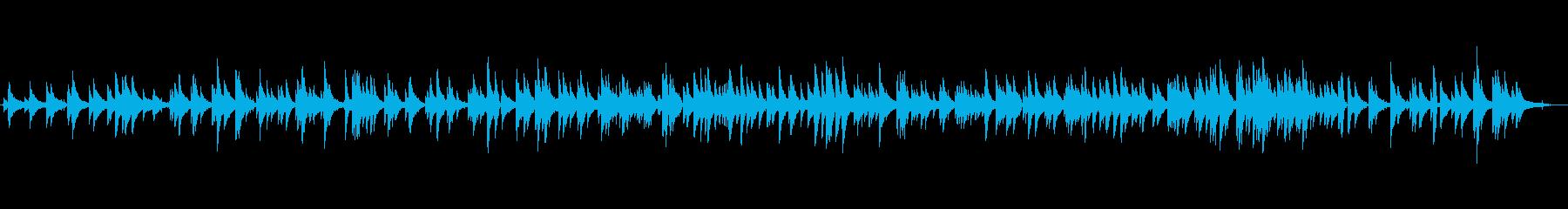 哀愁のマイナージャズワルツ、生ピアノソロの再生済みの波形