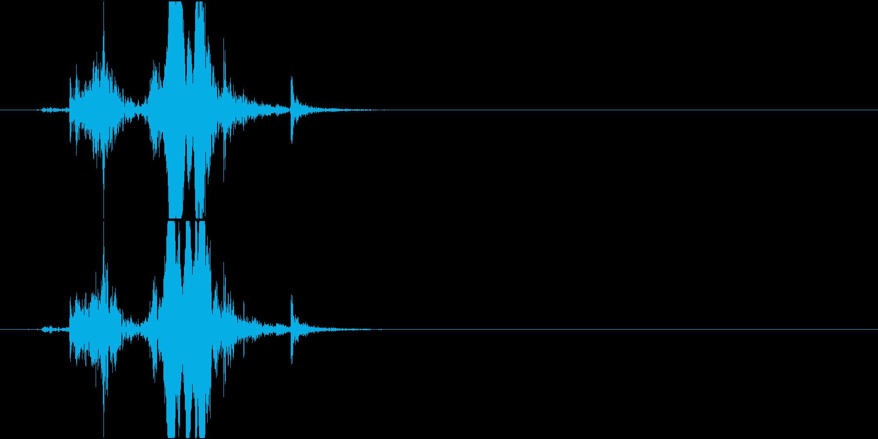 【生録音】 Lock 玄関の鍵をかける音の再生済みの波形