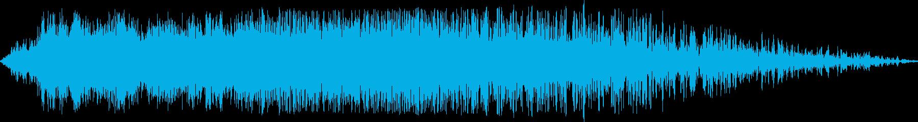 旅客機上空通過(200M離れた位置)の再生済みの波形