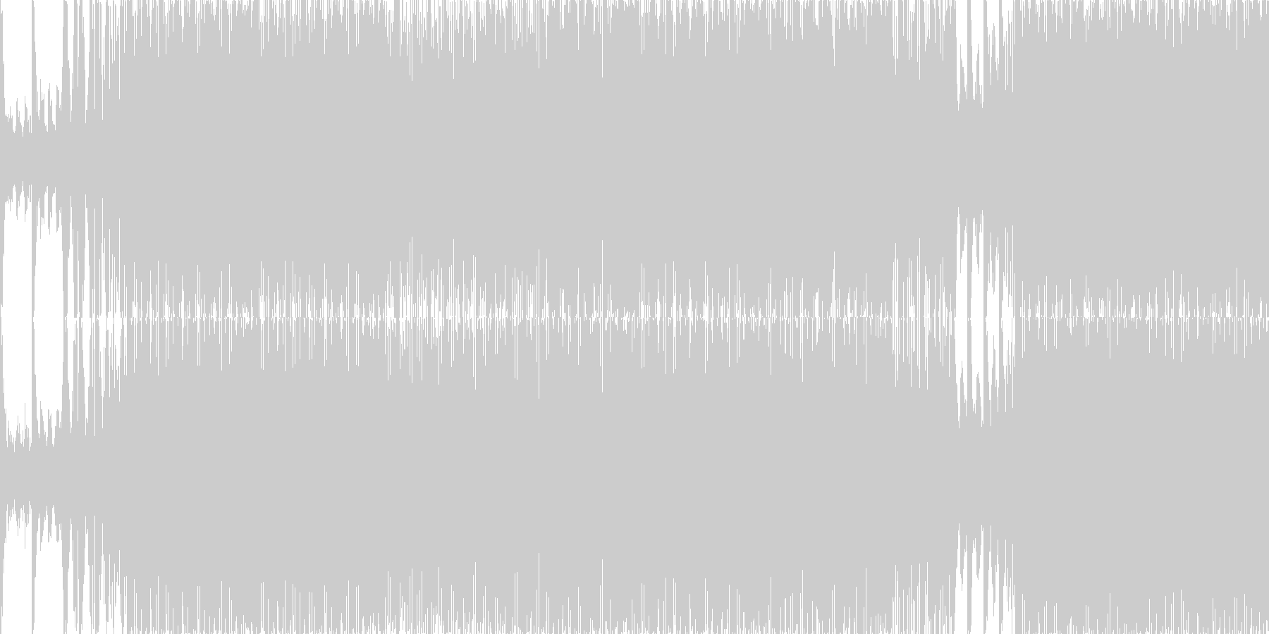 ループ■瞑想的でディープなテクノの未再生の波形