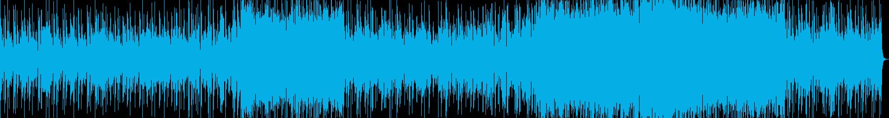 暗闇の中に光溢れるレゲエの再生済みの波形