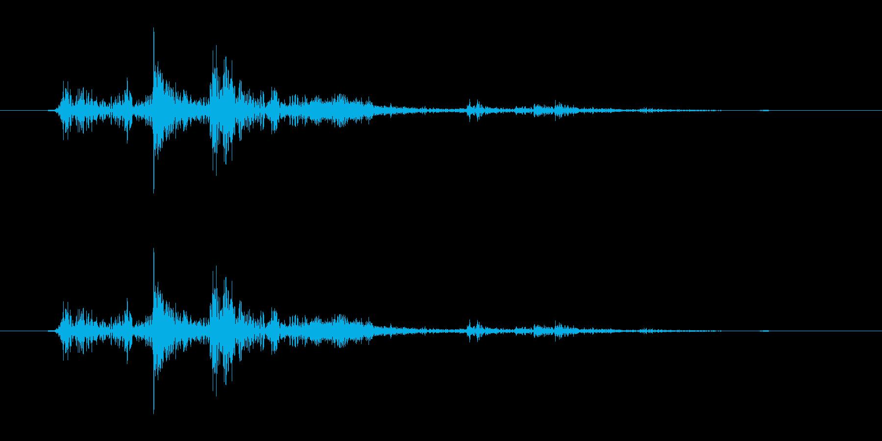 ガチャ(ドアの開閉音.03)の再生済みの波形