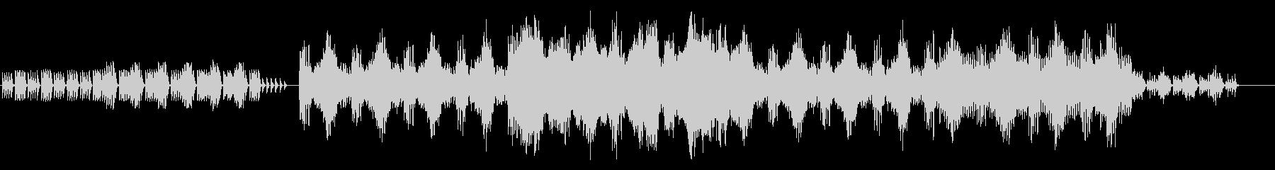 幻想的な管弦楽BGMの未再生の波形