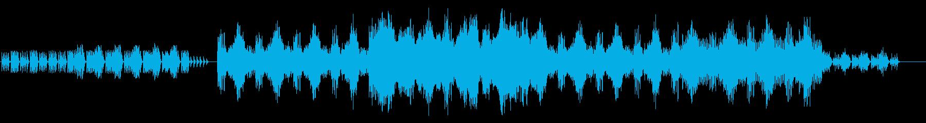 幻想的な管弦楽BGMの再生済みの波形