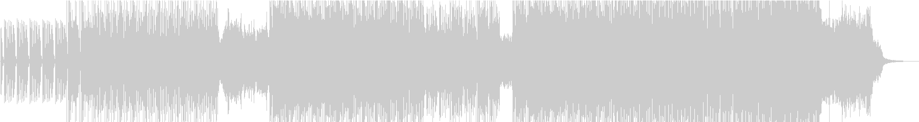 ドラムループに優しい電子音が乗るインストの未再生の波形