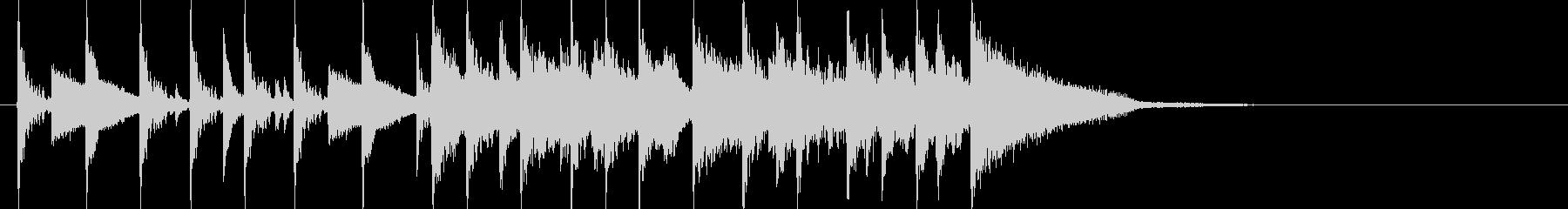 イントロ曲(ジャズピアノとドラム)の未再生の波形
