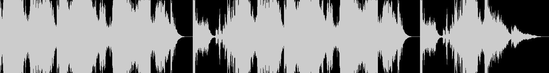 ノイズ音ベースのBGMの未再生の波形