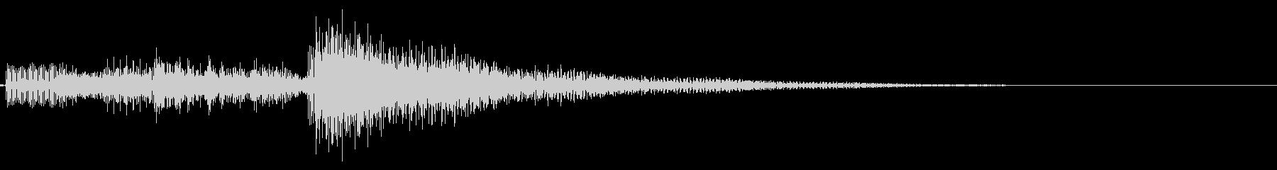 ホラーな場面の始まりに使えるジングルの未再生の波形