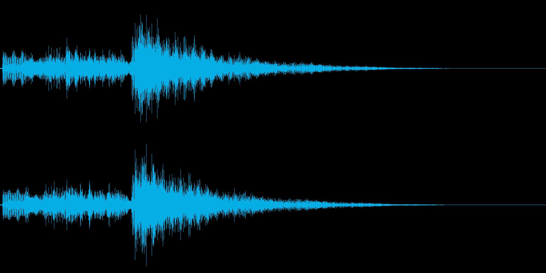 ホラーな場面の始まりに使えるジングルの再生済みの波形