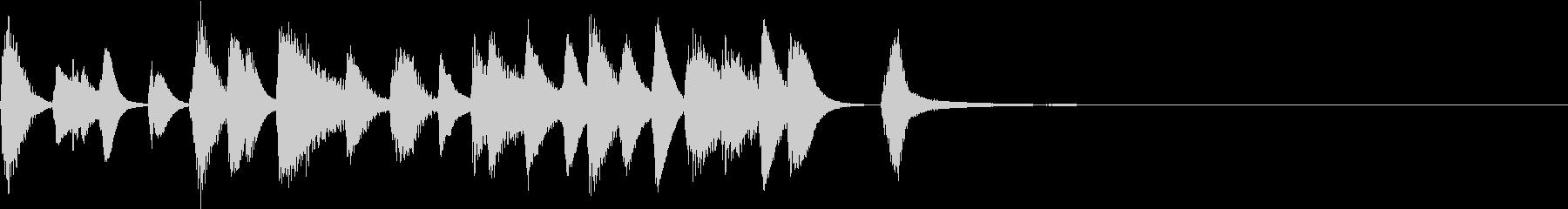 ピアノジングル軽快ジャズカフェ風の未再生の波形