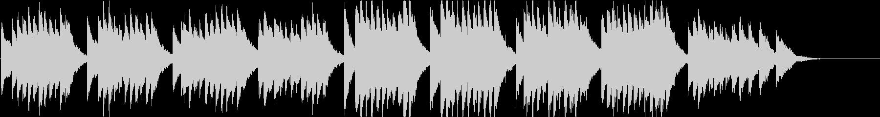 時報・チャイム風の名曲のメロディ・28の未再生の波形