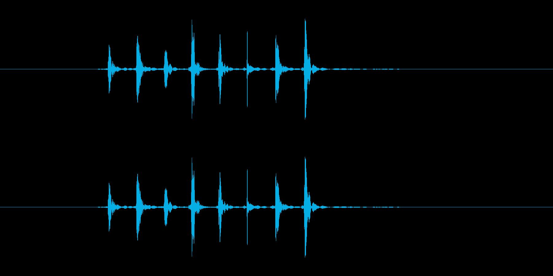 ぽぱぱぱぱぱぽぽの再生済みの波形