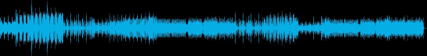 ビートを刻むエレクトロダンスミュージックの再生済みの波形