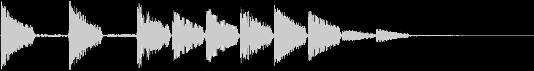 通知音・着信音風ジングル2(ループ)の未再生の波形