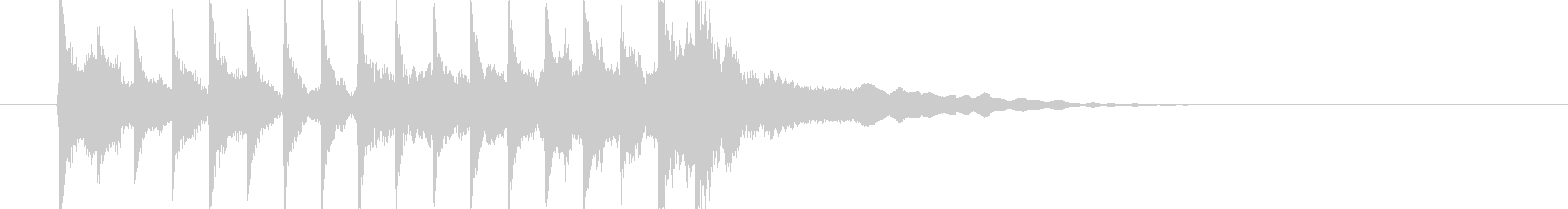 三味線主体の和風ジングル2 掛け声無の未再生の波形