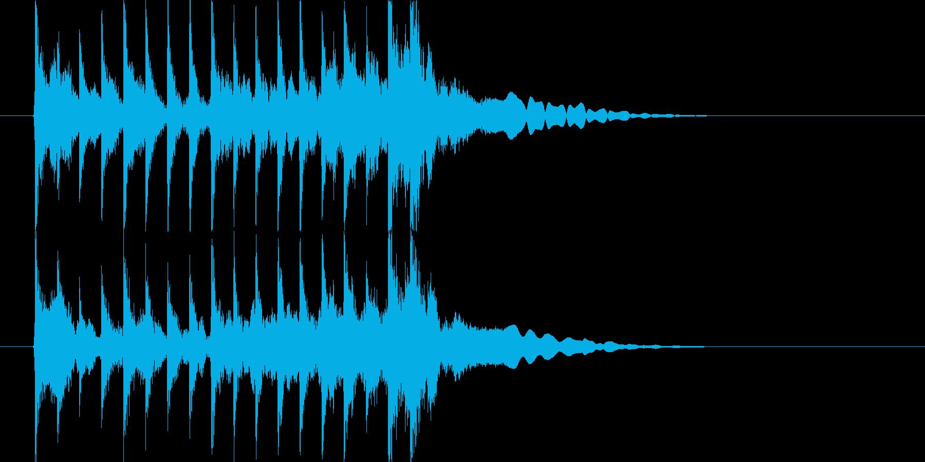 三味線主体の和風ジングル2 掛け声無の再生済みの波形