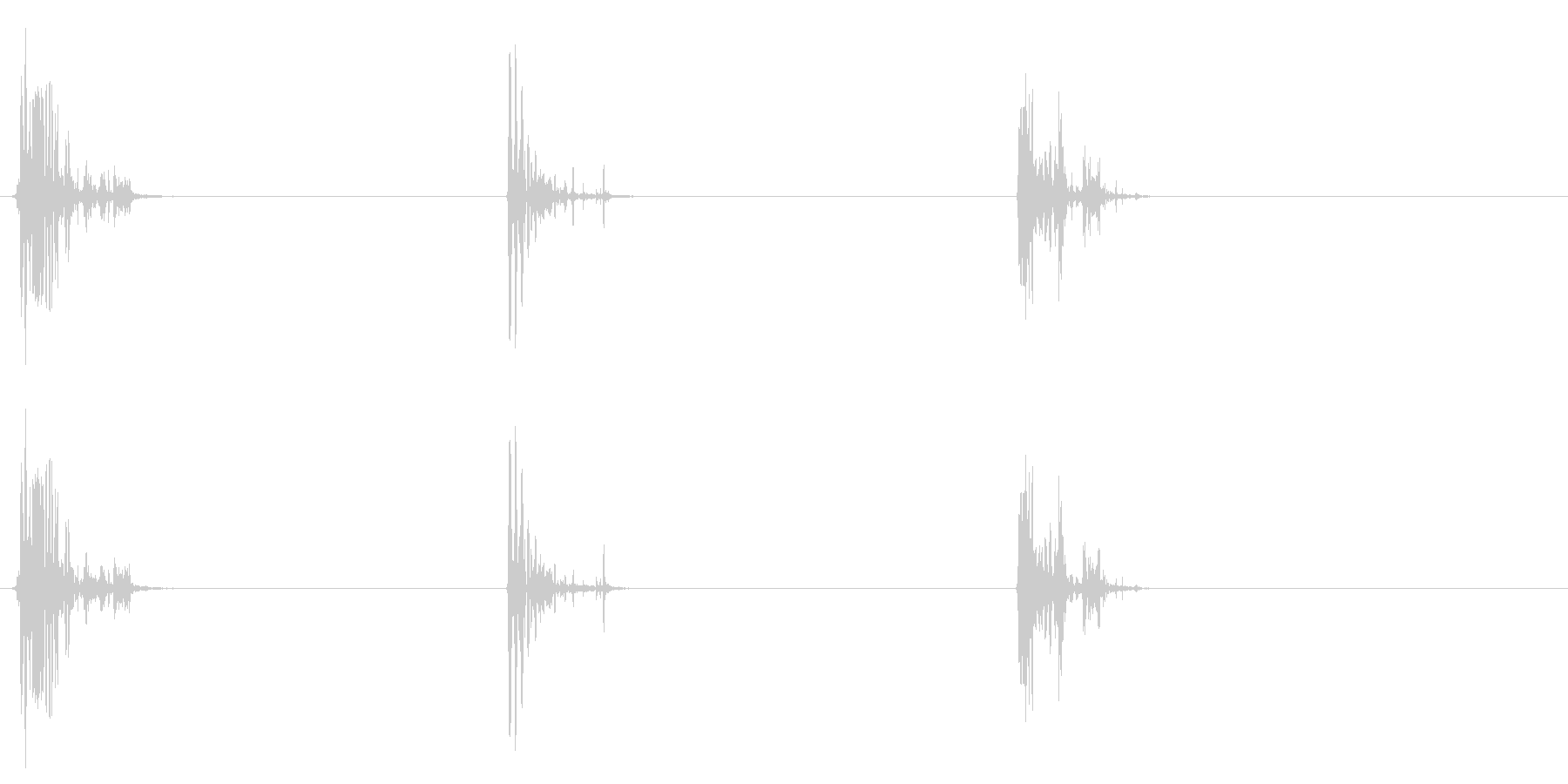 [生録音]ゴクゴク飲み込む音05(3回)の未再生の波形
