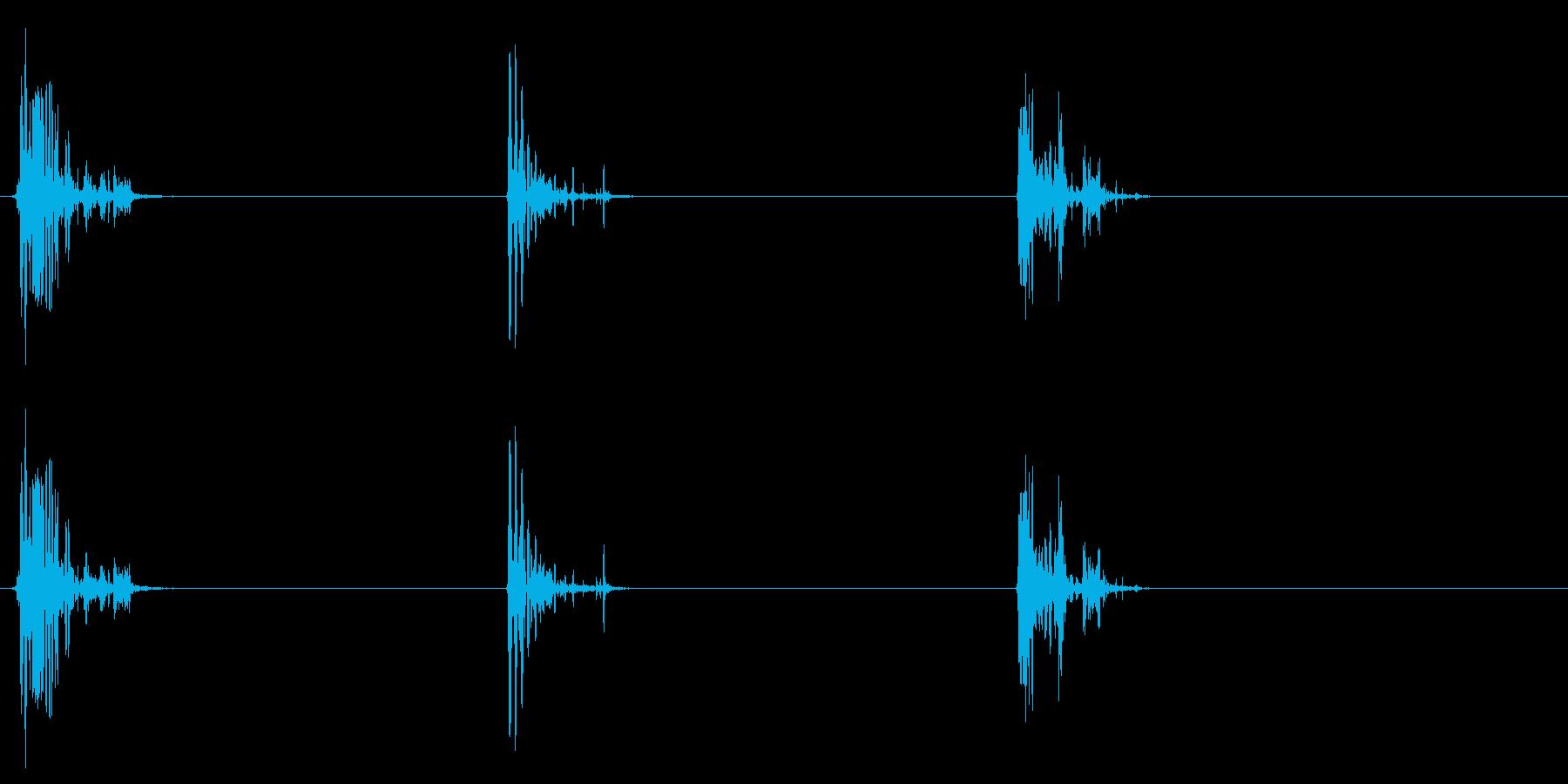 [生録音]ゴクゴク飲み込む音05(3回)の再生済みの波形