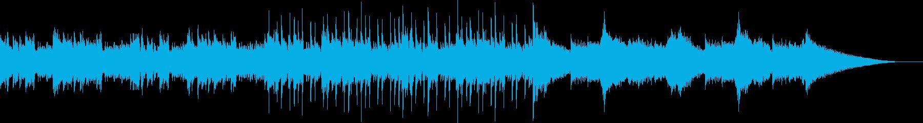 カフェで仕事中でも聴けるようジャズピアノの再生済みの波形