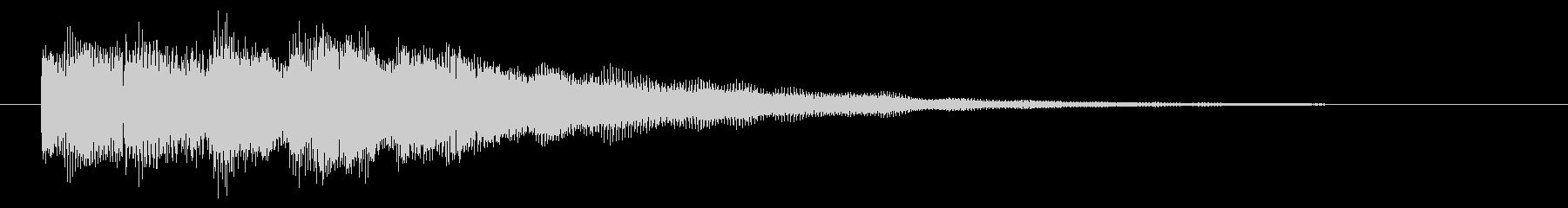 ニュースのテロップをイメージした音04の未再生の波形