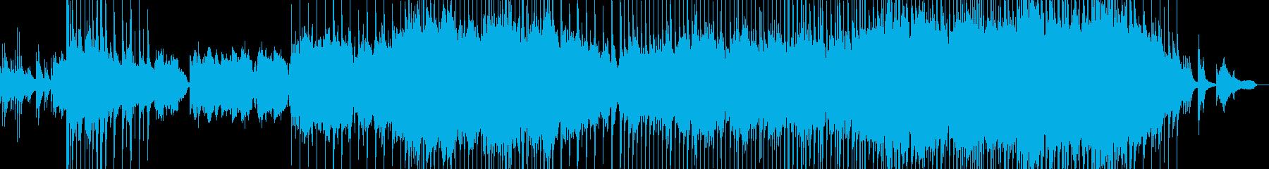 悲しい雰囲気の韓流風バラードの再生済みの波形