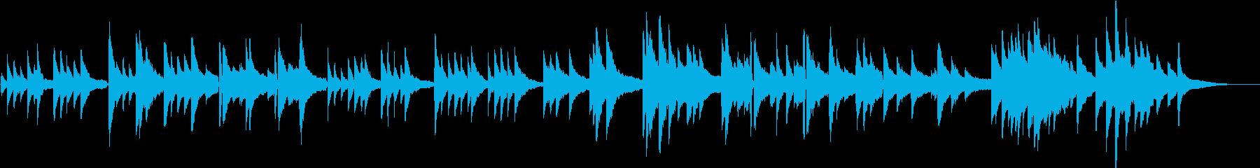 生演奏 寂しげなピアノ曲の再生済みの波形