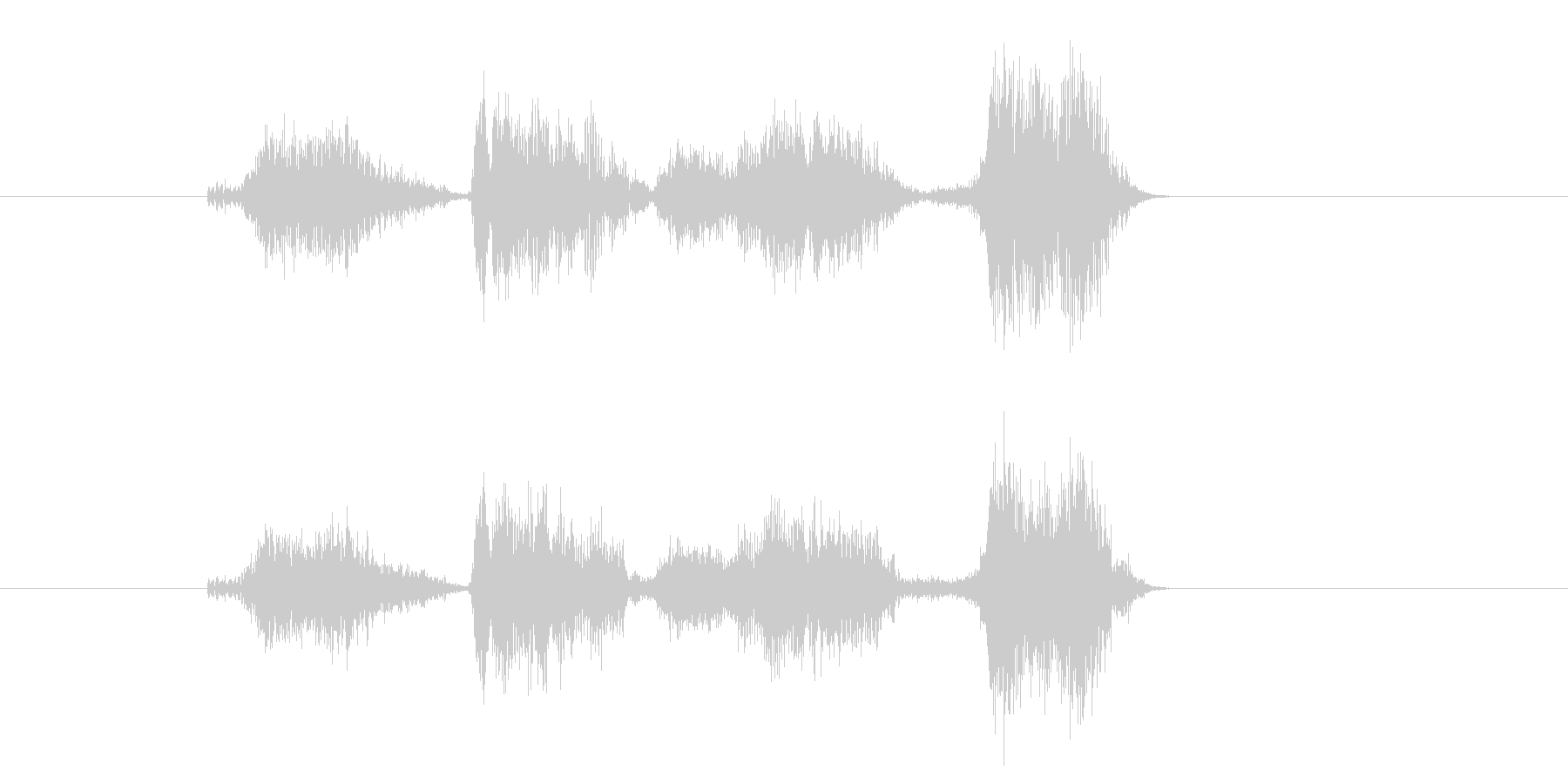 シンプルであっさりとしたカウントの未再生の波形