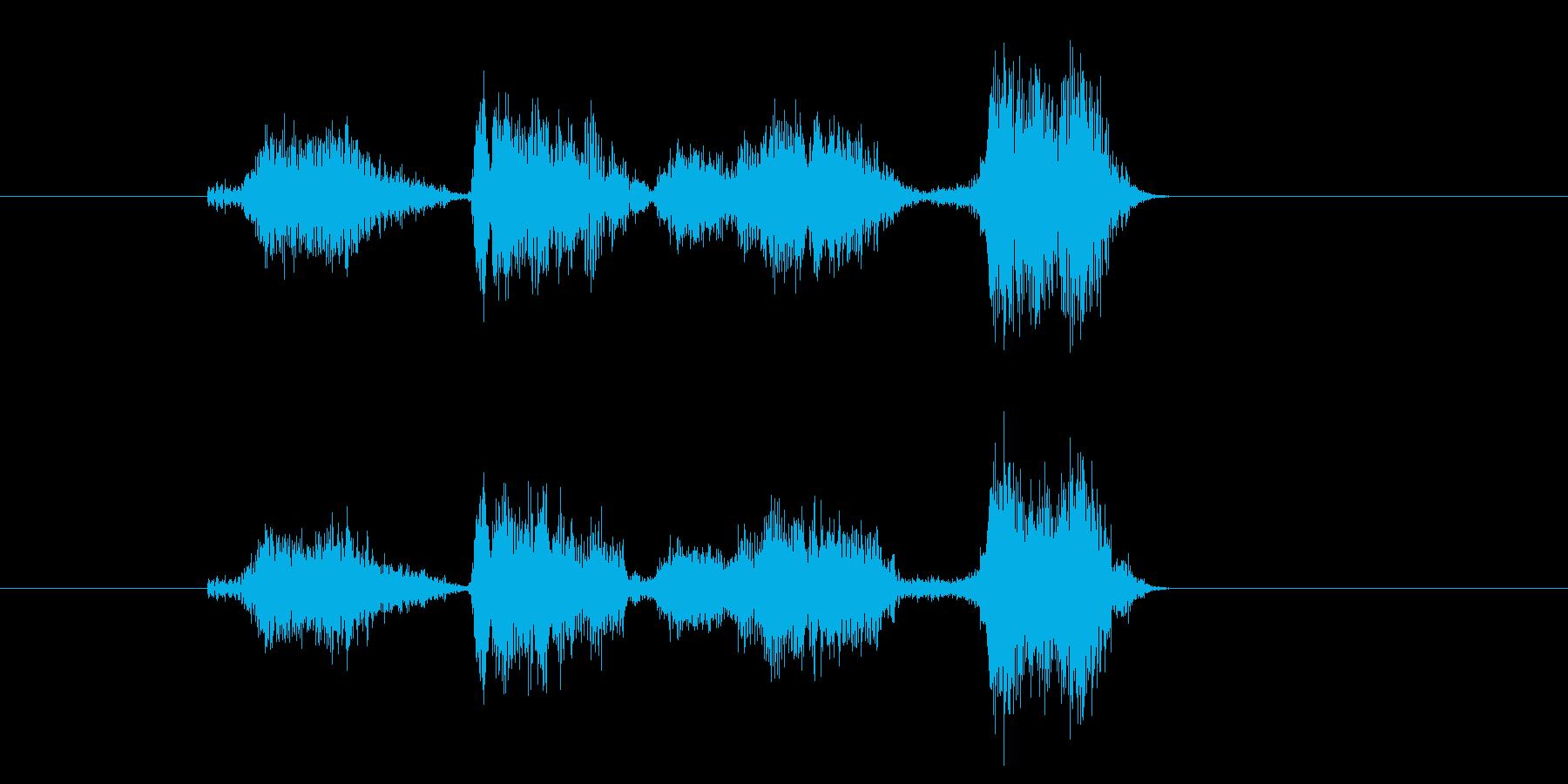 シンプルであっさりとしたカウントの再生済みの波形