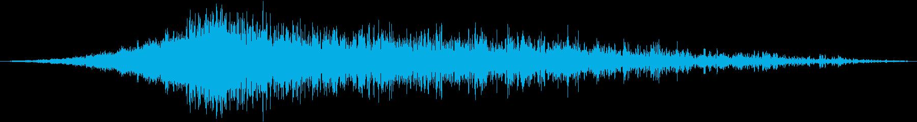 大型旅客機のオーバーヘッドの再生済みの波形