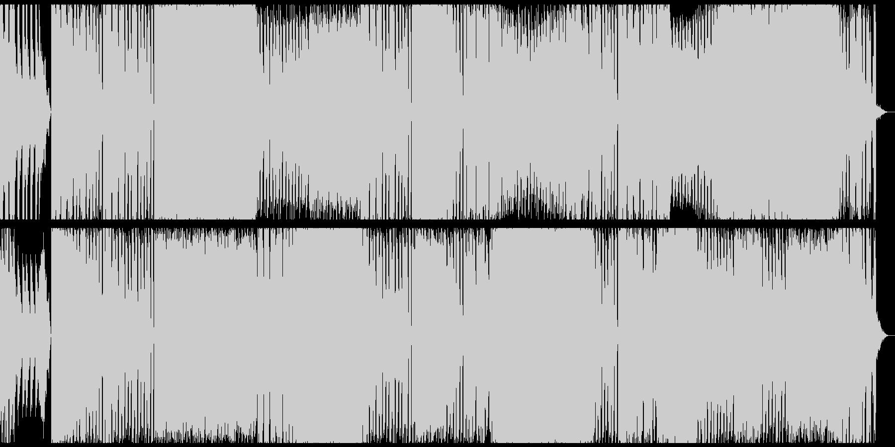 華やかなEDMの未再生の波形
