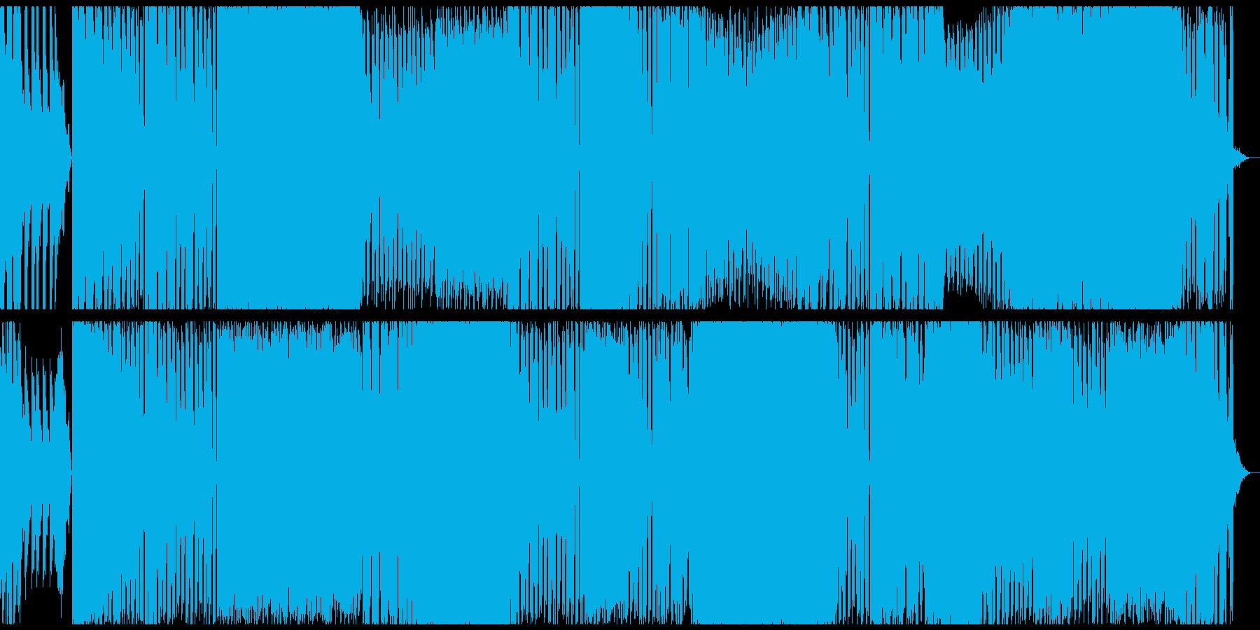 華やかなEDMの再生済みの波形