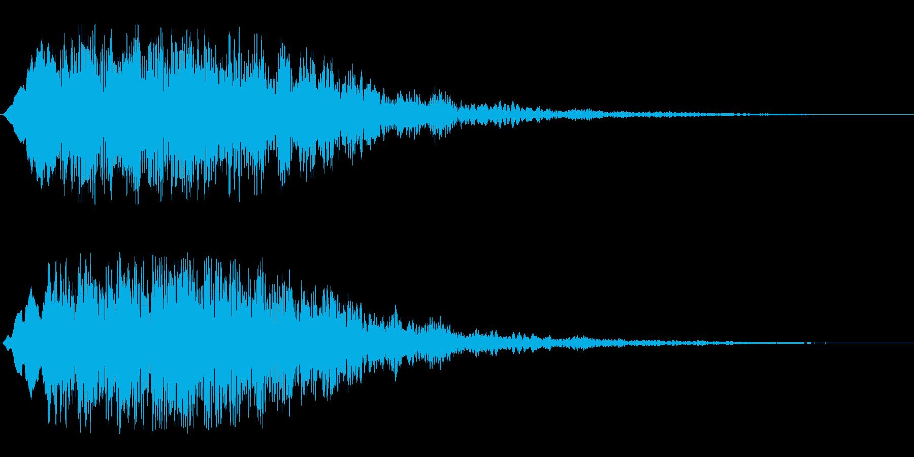 恐怖心を煽る音(怪奇現象シーンの効果音)の再生済みの波形