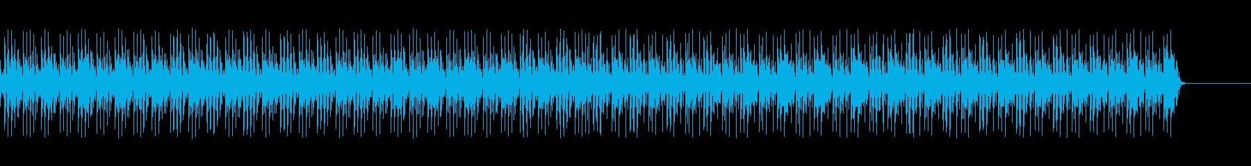 実用的なカリンバの無機質BGMの再生済みの波形