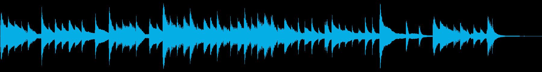 ハープによるゲームオーバー用BGMの再生済みの波形