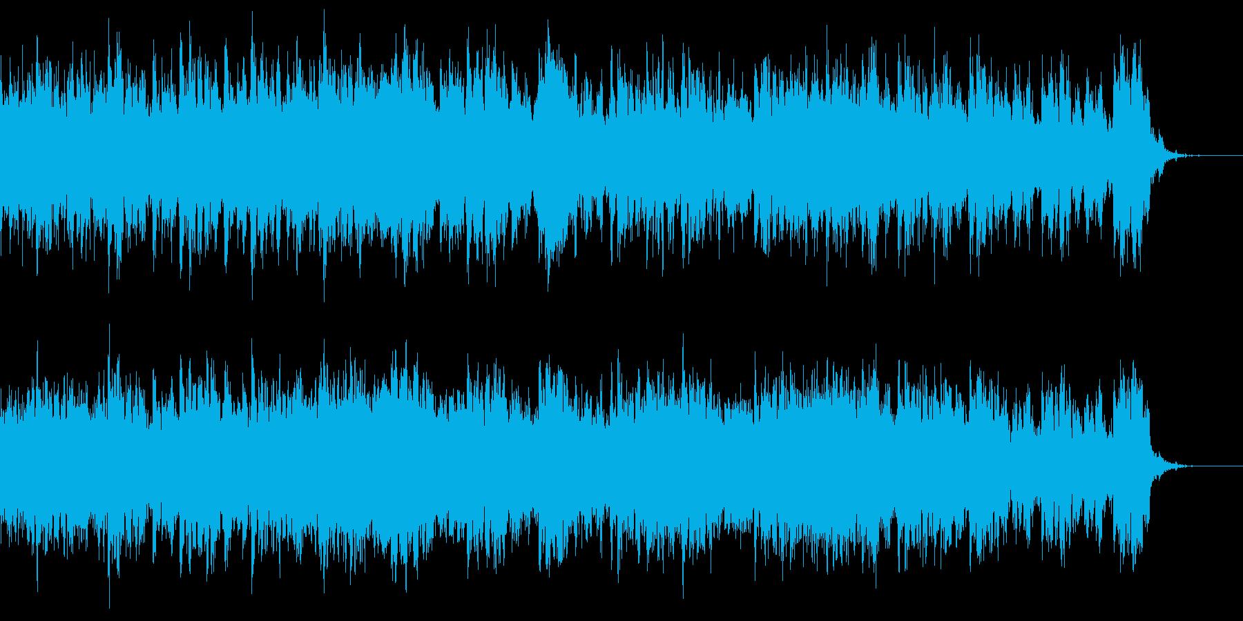 特殊なボーカルのホラーなサウンドスケープの再生済みの波形