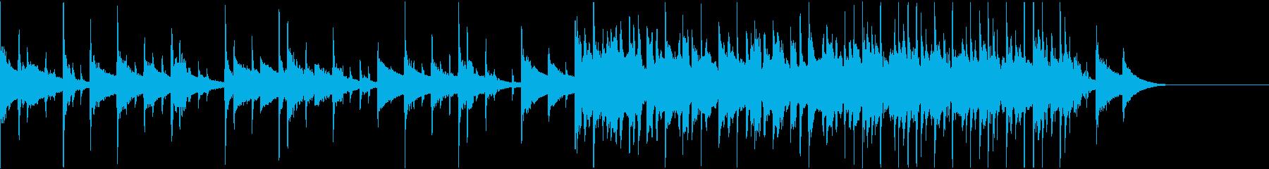 映像向け緊迫感のあるBGMの再生済みの波形