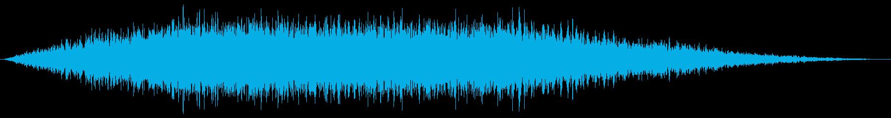 宇宙船が通り過ぎるような効果音の再生済みの波形