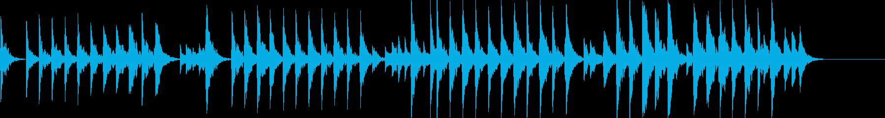 童謡「夕焼け小焼け」オルゴールbpm66の再生済みの波形