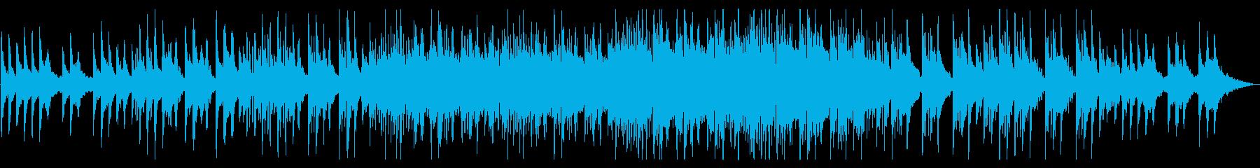 折り重なるピアノ幻想的な弦とシンセビートの再生済みの波形