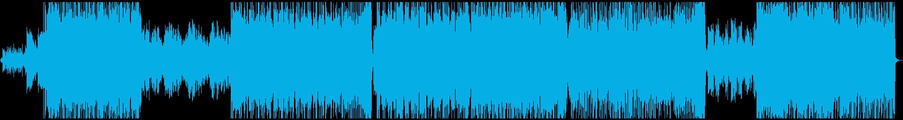 優しい雰囲気のロックバラードの再生済みの波形