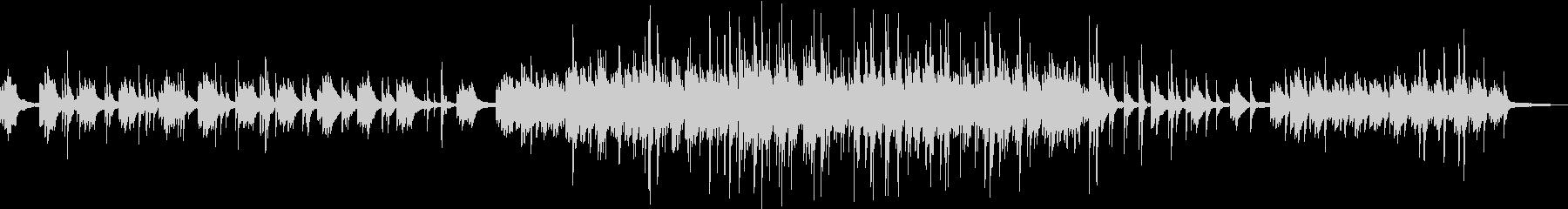 静かな海の様なヒーリングピアノバラード の未再生の波形