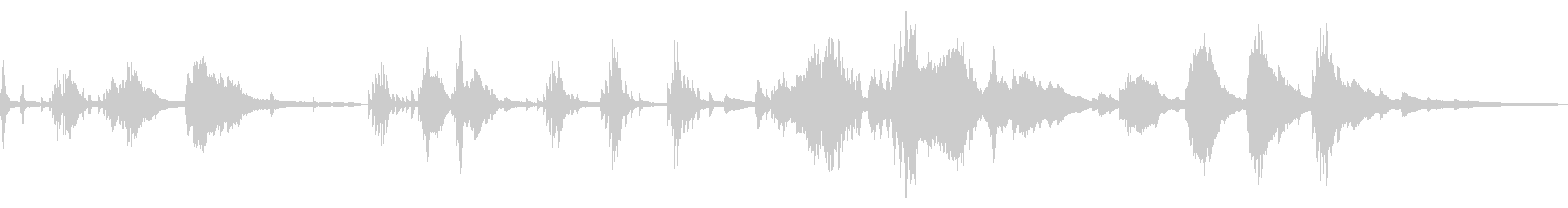 シリアスな和風の雰囲気16-ピアノソロの未再生の波形