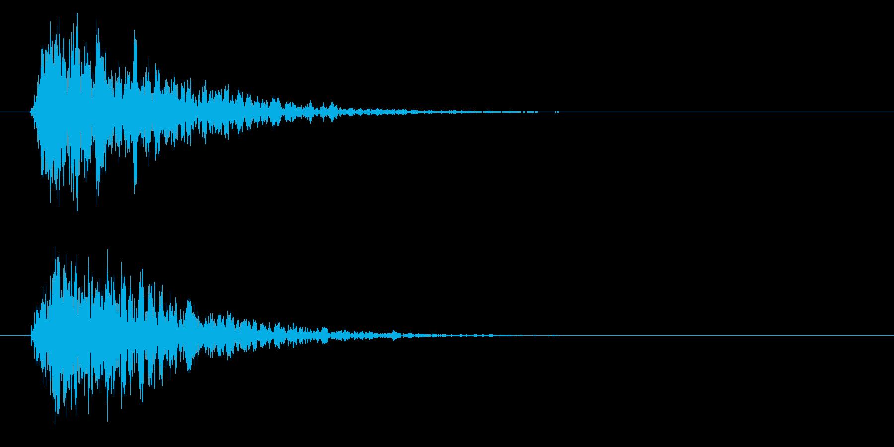 拍子木一丁_01の再生済みの波形