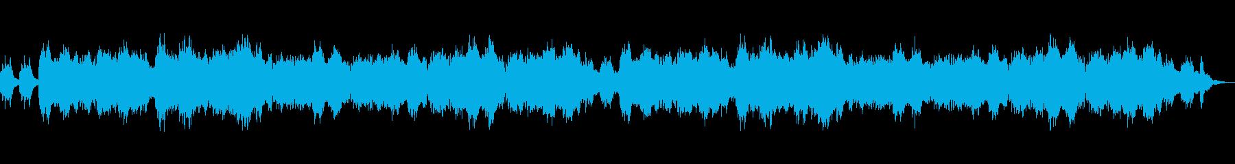 ハープ、木管、弦楽の静かな優しいBGMの再生済みの波形