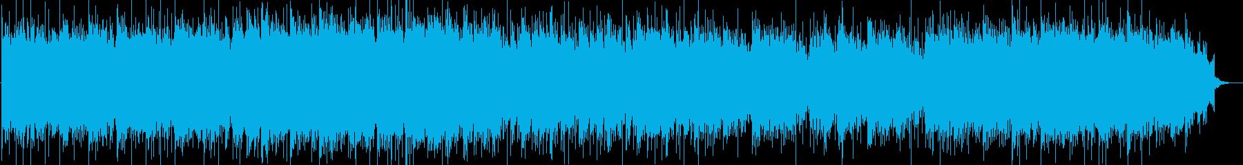不穏な雰囲気の和風の曲の再生済みの波形