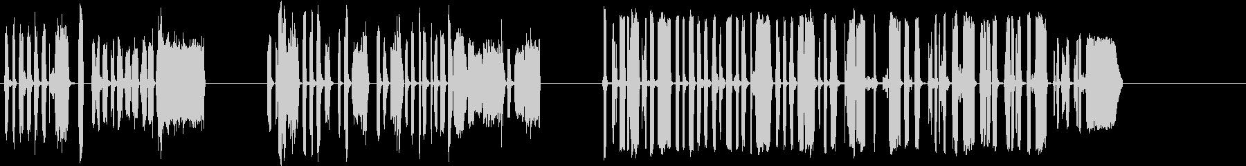 DJスクラッチパフォーマンス1-3の未再生の波形