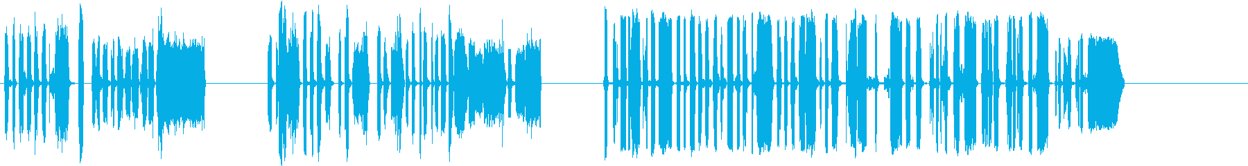 DJスクラッチパフォーマンス1-3の再生済みの波形