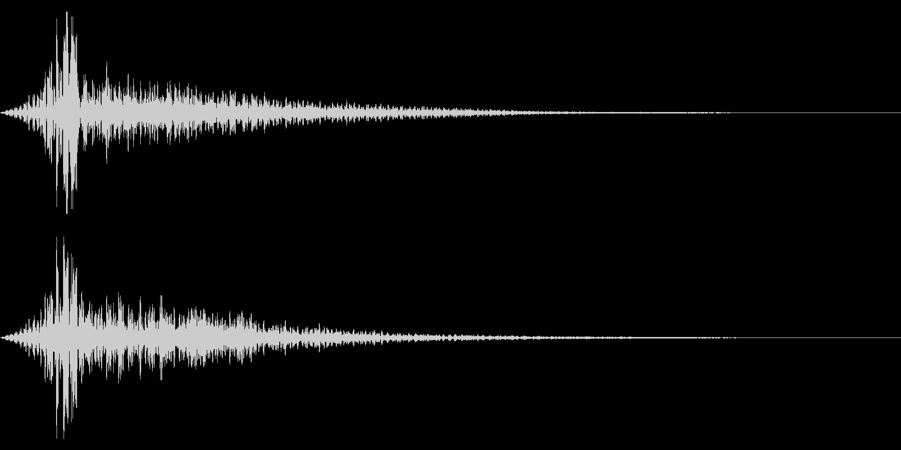 ホラー系アタック音60の未再生の波形