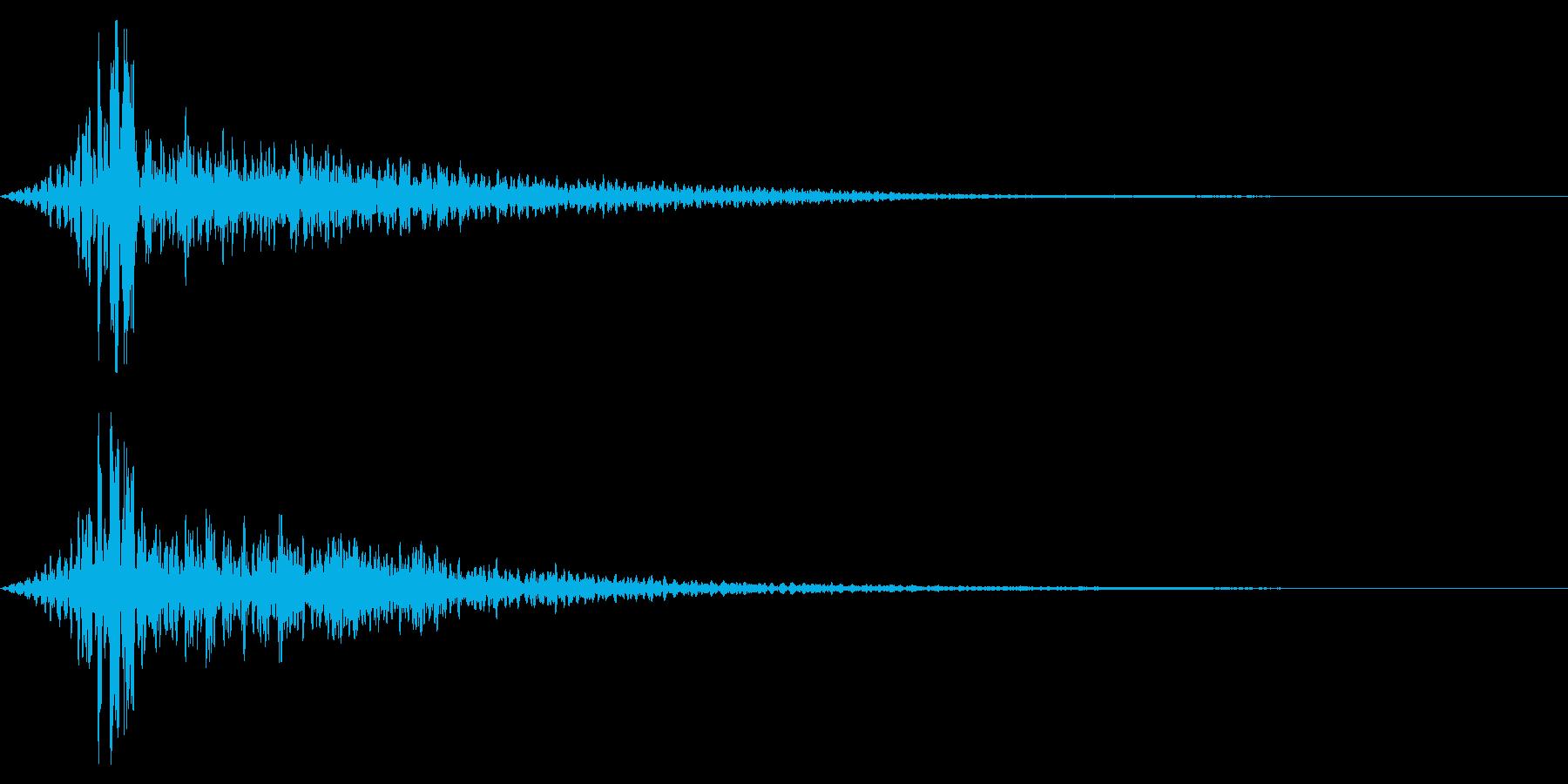 ホラー系アタック音60の再生済みの波形